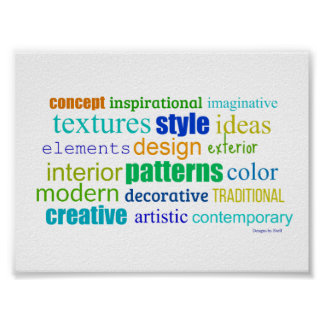 Unique Design Word Collage Poster