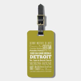 Unique Detroit, Michigan Gift Idea Bag Tags
