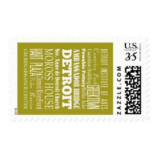 Unique Detroit, Michigan Gift Idea Stamp