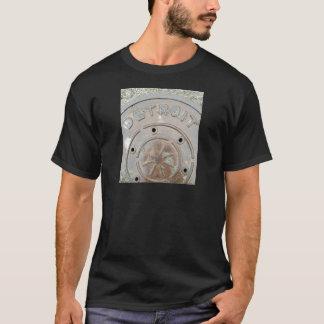 Unique Detroit T-shirt! Detroit, MI Manhole Cover. T-Shirt