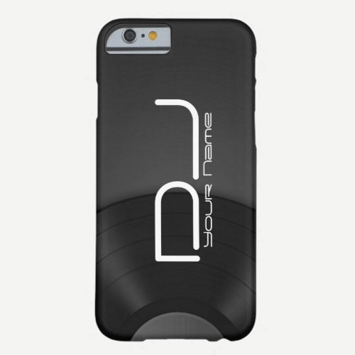 Unique DJ iPhone 6/6s case with Vinyl Background