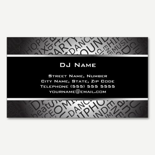 Unique DJ Magnetic Business Card
