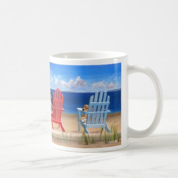 Beach Themed Unique Dog Themed Mug