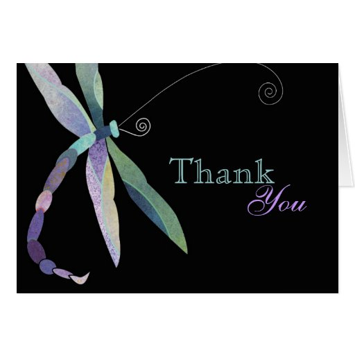 Unique Dragonfly Thank You Cards