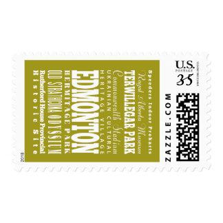 Unique Edmonton, Alberta Gift Idea Postage Stamps