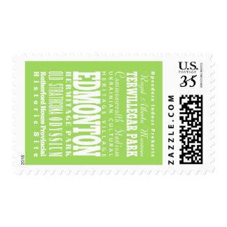 Unique Edmonton, Alberta Gift Idea Stamp