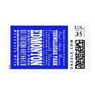 Unique Edmonton, Alberta Gift Idea Stamps