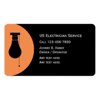 Unique Electrician Business Cards