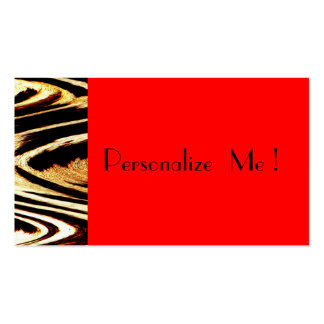Unique Elegant Cool Red Zigzag Chevron Animal Business Card