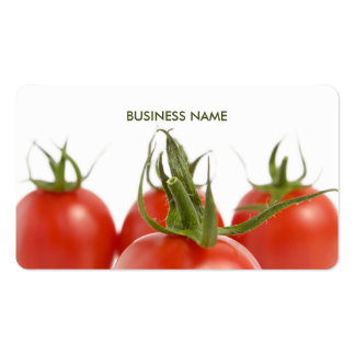 Unique Elegant Farmer Grocery Tomatoes Business Card