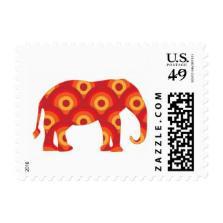 Unique Elephant Mod Retro Abstract Circle Stamps