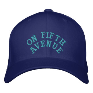 Unique Embroidered CAP - ON FIFTH AVENUE Embroidered Baseball Caps