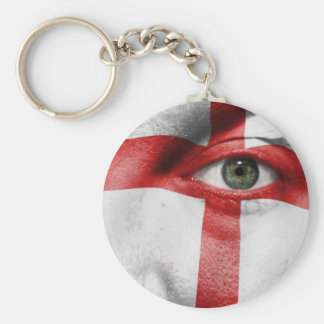 Unique England flag design on your cool gift Basic Round Button Keychain