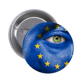 Unique European flag design on your cool gift Button
