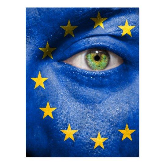 Unique European flag design on your cool gift Postcard