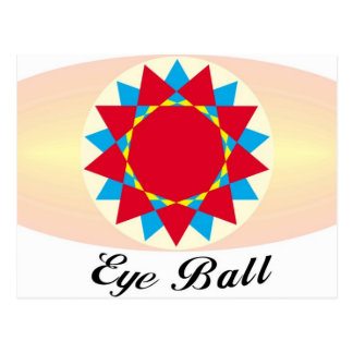 unique eye ball design postcards