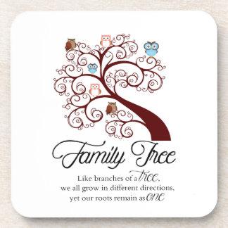 Unique Family Tree Design Coaster