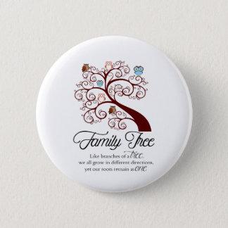 Unique Family Tree Design Pinback Button