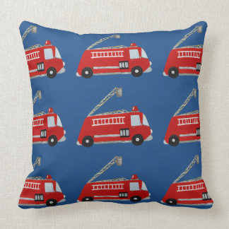 Unique fire truck throw pillow