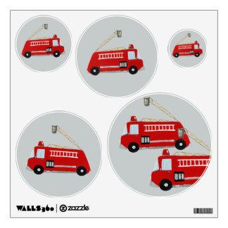 Unique fire truck wall sticker