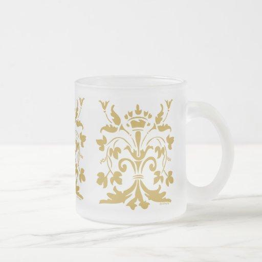 Unique Fleur de lis Queen (antique gold) Mugs