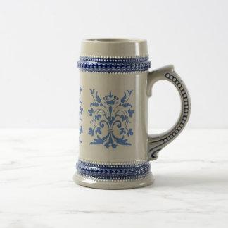 Unique Fleur de lis Queen (blue) Beer Stein