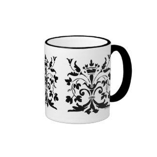 Unique Fleur de lis Queen Ringer Coffee Mug