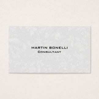 Unique Floral Damask Grey Special Plain Business Card
