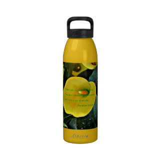 Unique Floral Mother's day quote water bottle