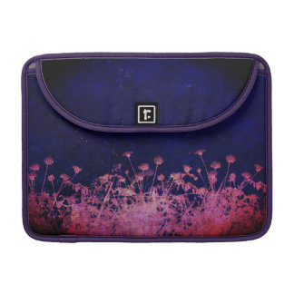 Unique floral pink and blue design sleeve for MacBook pro