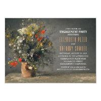 Unique Flower Vase Rustic Engagement Party Card