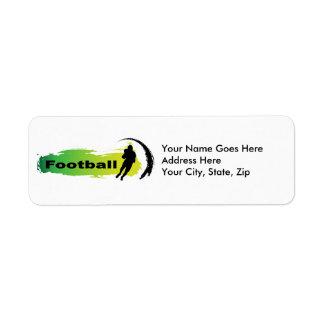 Unique Football Label