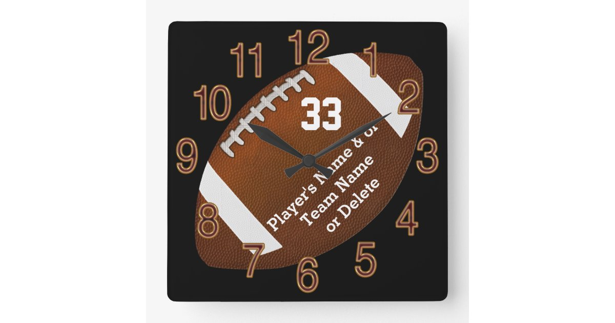 Unique Football Senior Night Gifts, TEXT, COLORS Square ...