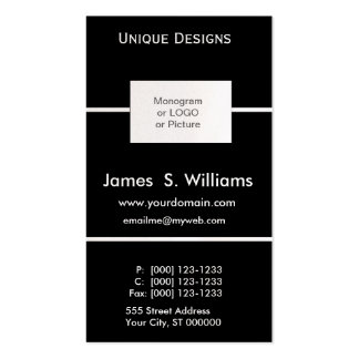 Unique Formal Black and White Double-Sided Standard Business Cards (Pack Of 100)