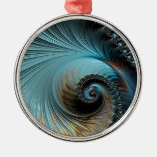 Unique Fractal - Untitled Metal Ornament