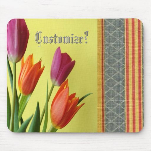Unique French Country Beautiful Tulips Mousepad