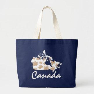 Unique fun Canadian Maple Canada leaf tote bag