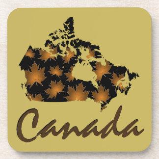 Unique fun Canadian Maple  drink coaster set