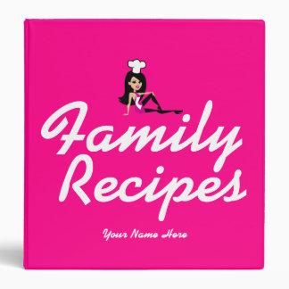 Unique Fun Hot Pink Recipe Binder Customizable