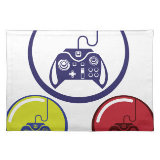 Unique Game Controller Icon Vector Art Cloth Placemat