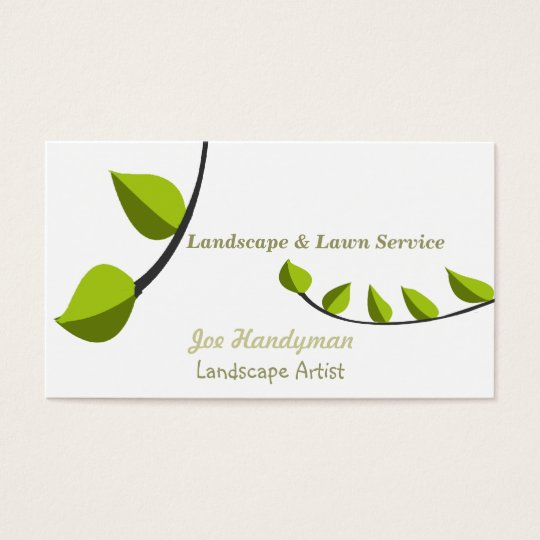 Unique Gardening Consultant Lawn Care Landscaping Business Card