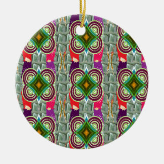 Unique geometrical n graphical pattern art gifts christmas tree ornament