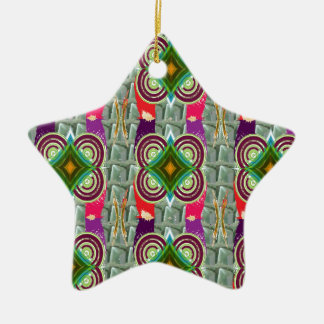 Unique geometrical n graphical pattern art gifts christmas ornaments