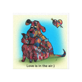 Unique Gift - Dog and Cat Lovers - Canvas