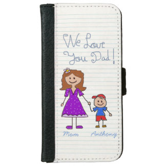 Unique gift for dad,world's best dad wallet phone case for iPhone 6/6s