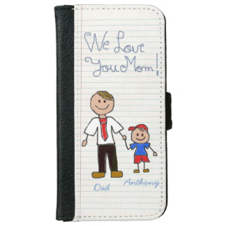 Unique gift for mom iPhone 6 wallet case
