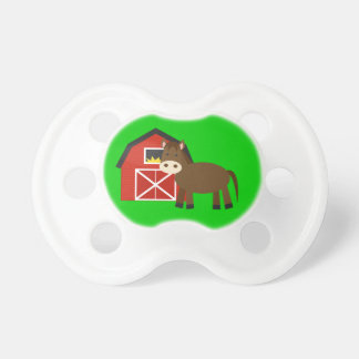 Unique Gift Horse and Barn Baby Pacifiers