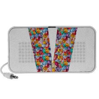 Unique gifts for friends name with alpha V V VVV Laptop Speaker