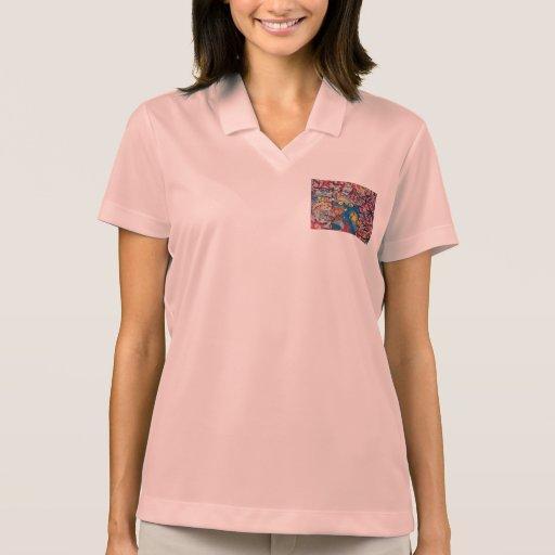 Unique Gifts Women's Nike Polo Shirt Aluminum Pink