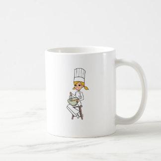 Unique Girl Chef Illustration Coffee Mug
